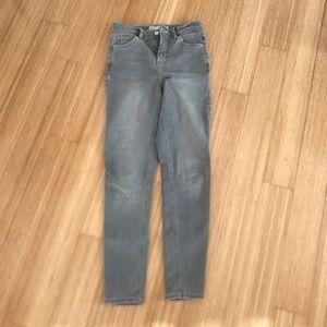 Topshop gray Jamie skinny Jeans w 26 length 30